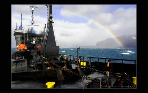 A beautiful but wet day on the Antarctic Ocean.