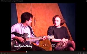 Jenna Jolovitz and Stephen Colbert