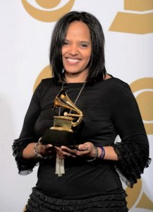 Terri Lyne Carrington backstage with her GRAMMY